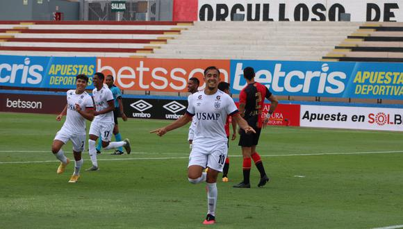 Pérez Guedes marcó el primero en el triunfo sobre Melgar (Foto:LIGA 1)