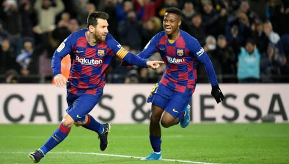Lionel Messi junto a Ansu Fati. (Foto: Bolivia Maya)