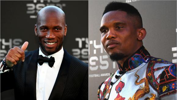 Didier Drogba y Samuel Eto'o son considerados dos grandes referentes del fútbol africano. (Foto: Agencias)