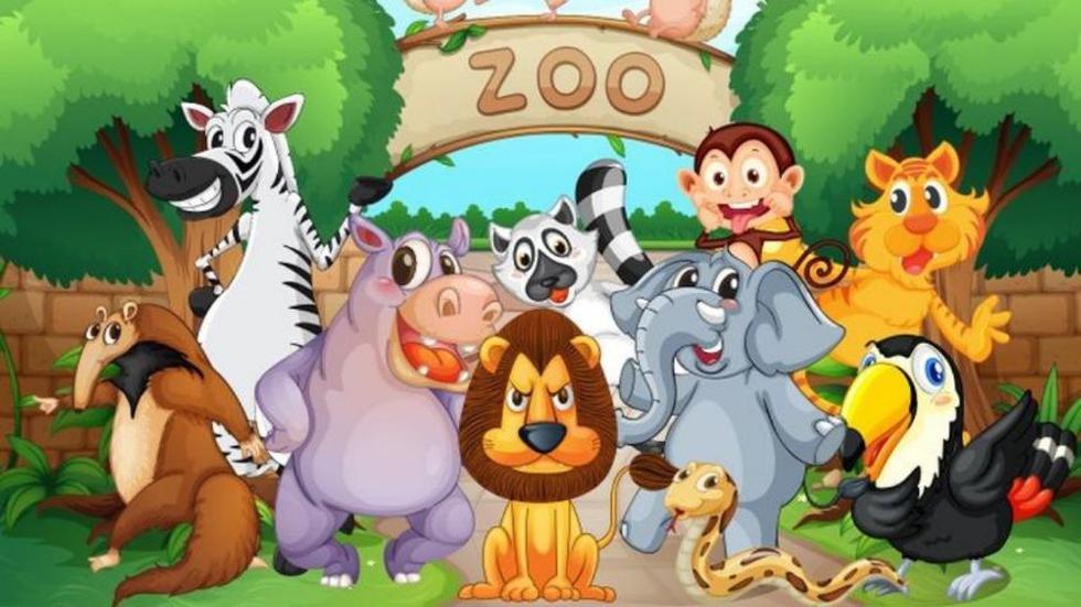 Halla las cuatro diferencias entre las dos imágenes de los animales en el zoológico. (Mdzol)