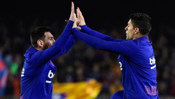 Lionel Messi y Luis Suárez han jugado juntos en FC Barcelona durante seis temporadas. (Foto: AFP)