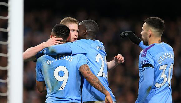 Manchester City venció a Leicester City por la fecha 18 de Premier League. (Getty)