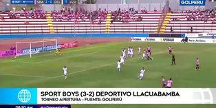 Sport Boys supera 3-2 a Deportivo Llacuabamba en inicio del Apertura