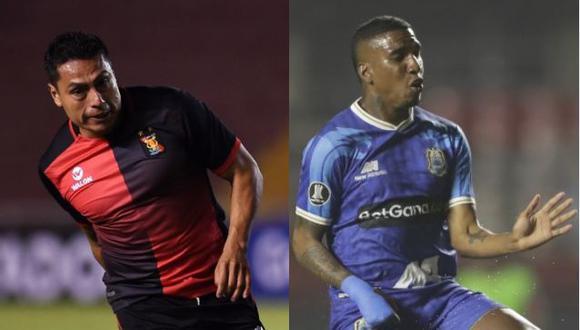 Tejada (izquierda) y Arango (derecha) llegaron en el 2020 al Perú para reforzar a Melgar y Binacional, respectivamente. (Foto: AFP)