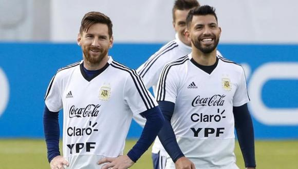 Leo Messi y Sergio Agüero se conocieron en las divisiones menores de la selección argentina. (Foto: EFE)