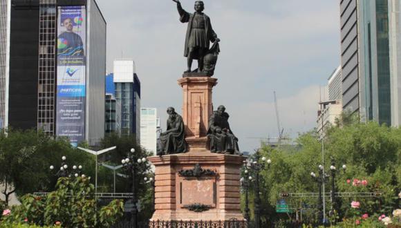 Estatua de Cristóbal Colón en la Ciudad de México fue erigida en 1892. (Foto: Captura/Medio Tiempo)