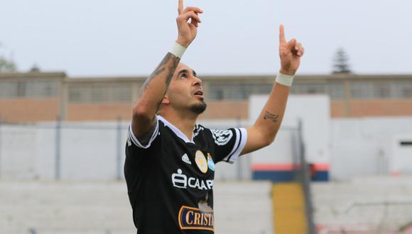 Marcos Riquelme marcó su cuarto gol en la temporada con Sporting Cristal. (Foto: Liga de Fútbol Profesional)