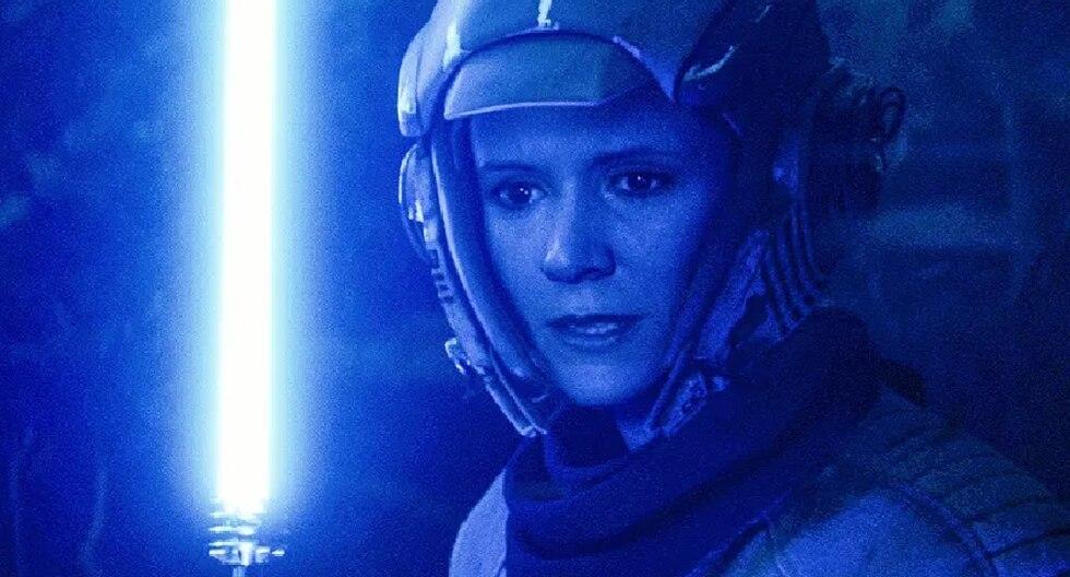 Leia rejuvenecida en la última película de Star Wars (Lucasfilm)