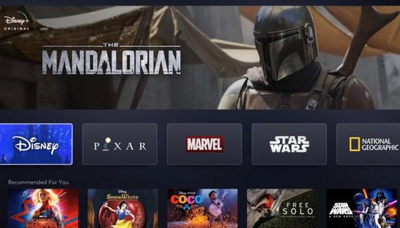 Así se vería Disney+ en la web (Foto: Disney)