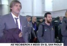 """""""Bienvenido a la casa del padre"""": el recibimiento a Lionel Messi en el San Paolo recordándole a Diego Maradona [VIDEO]"""
