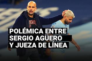 Pep Guardiola defendió a Sergio Agüero por la polémica con la jueza de línea