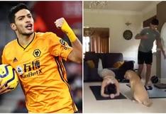 Con su familia: así se entrena Raúl Jiménez en pleno aislamiento por el coronavirus [VIDEO]