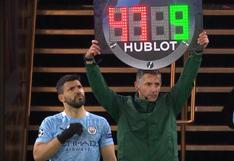 Siempre el '10′: Agüero y su corrección al árbitro en su ingreso al Manchester City vs PSG [VIDEO]