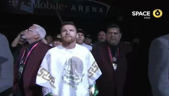 ¡Retumbó el T-Mobile Arena! Así fue el espectacular ingreso de 'Canelo' Álvarez a al recinto de Las Vegas. (Captura/Space)