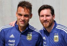 """Lautaro Martínez y sus elogios a Lionel Messi: """"Está un paso adelante de todos"""""""