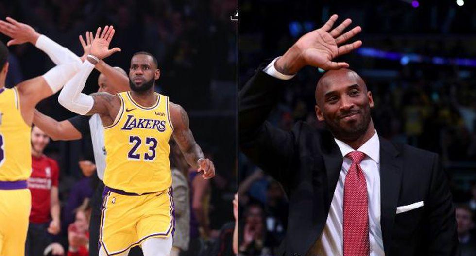 Los Angeles Lakers alcanzaron su primera victoria de la temporada en el Staples Center de la mano de un imparable LeBron James. En las tribunas estuvo presente el mítico Kobe Bryant. (Foto: Lakers)