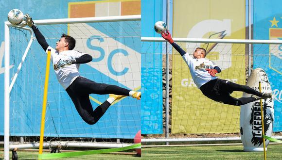 Alejandro Duarte y Renato Solís han alternado en el arco de Sporting Cristal durante las tres primeras fechas de la Liga 1. (Fotos: S.Cristal)