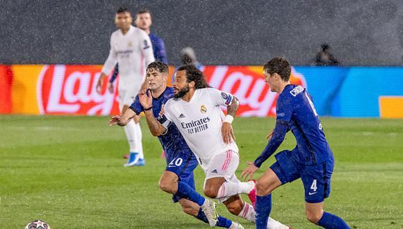Marcelo fue titular en el partido entre Real Madrid y Chelsea por semifinales de Champions League. (Getty)