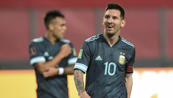 Argentina sumó tres victorias por Eliminatorias con Messi en Lima. (Foto: AFP)