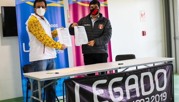 FPF y Legado Lima 2019 firmaron convenio para uso de sus instalaciones a favor de la Liga 2. (Foto: Lima 2019)