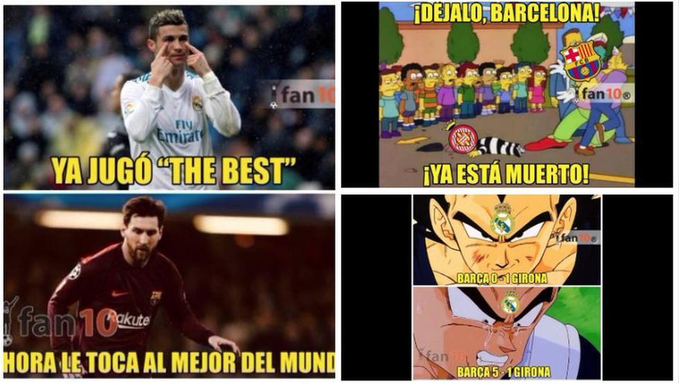 Los mejores memes de la goleada de Barcelona sobre Girona por la Liga Santander. (Meme Deportes / Fan 10)