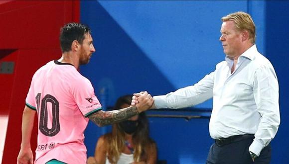 Ronald Koeman dio detalles de la charla que tuvo con Lionel Messi.