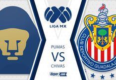Vía TUDN: Pumas vs. Chivas EN VIVO EN DIRECTO  por fecha 16 de Apertura 2020 Liga MX