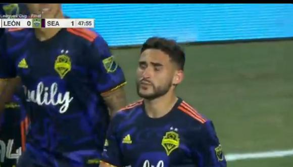 Cristian Roldán anotó el 1-0 en León vs. Seattle Sounders por la final de Leagues Cup 2021. (Captura: ESPN)