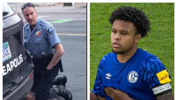 El capitán del Schalke 04 portó brazalete con el que exige justicia para George Floyd. (Foto. Twitter/Weston McKennie)