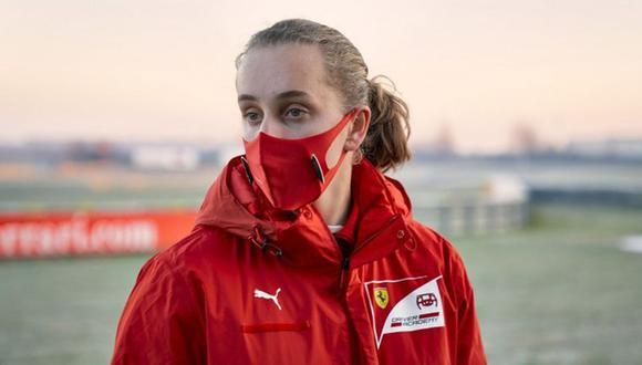 Maya Weug en la pista de Fiorano. (Foto: FIA)