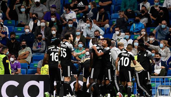 Sheriff Tiraspol venció al Real Madrid en el estadio Santiago Bernabéu por Champions League. (Foto: Agencias)