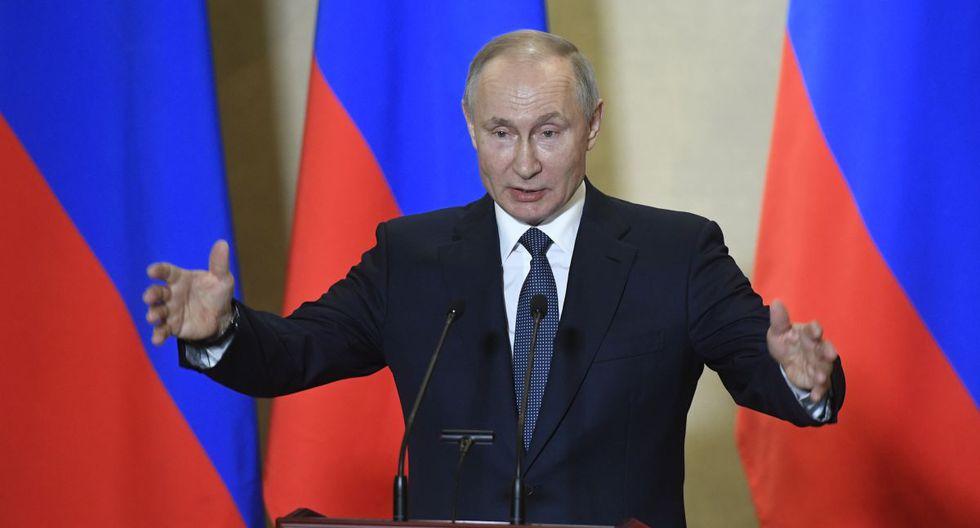 Presidente de Rusia reforzó las medidas extraordinarias para contrarrestar los efectos del coronavirus. (Foto: Agencia)