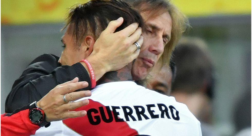 Ricardo Gareca dijo que la Selección Peruana tiene la fortuna de tener a Paolo Guerrero. (GEC)