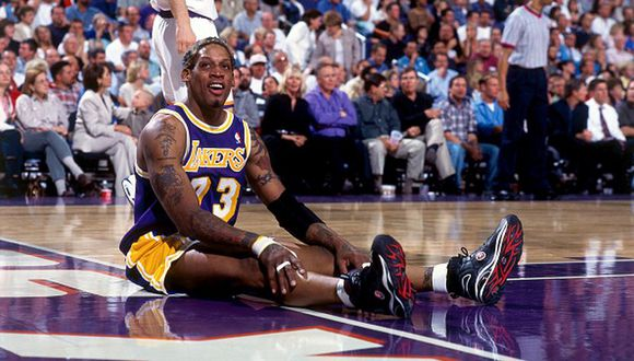 Dennis Rodman entró al Salón de la Fama de la NBA en 2011. (Getty Images)