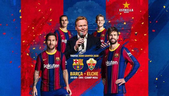 Barcelona se medirá a Elche por el Trofeo Joan Gamper. (Foto: @FCBarcelona_es)