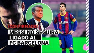 Es oficial: Messi no continuará vistiendo la camiseta del Barcelona