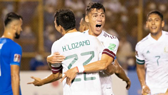 México vs. El Salvador jugaron por la jornada 6 de las Eliminatorias a Qatar 2022 este miércoles (Foto: @miseleccionmx).