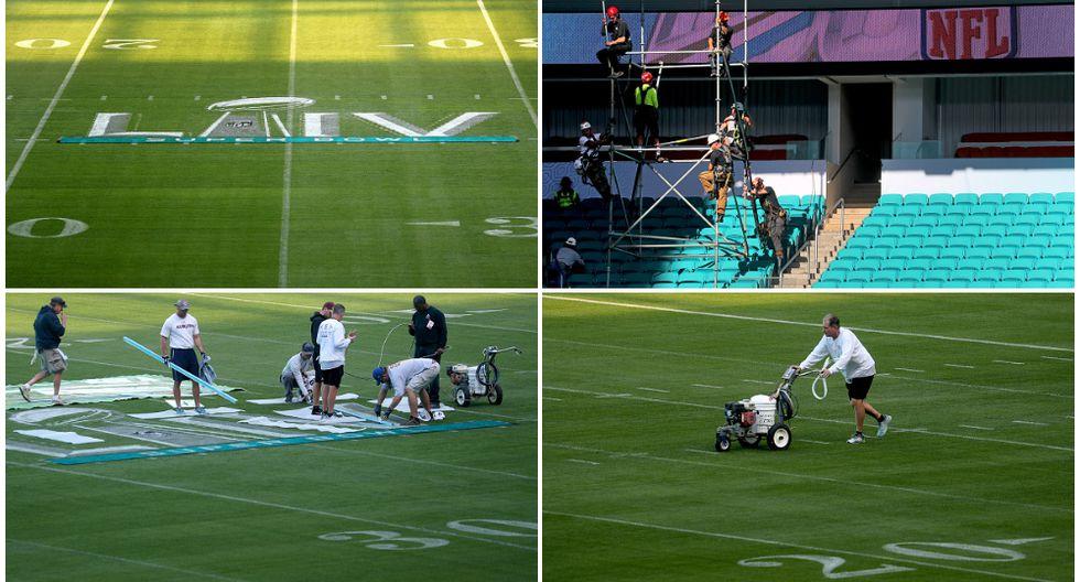 Super Bowl 2020: 6 mil personas trabajan en el estadio de Miami para la final de la NFL. (Getty Images)