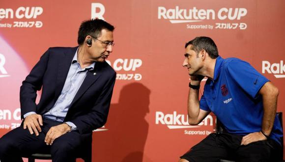 Josep María Bartomeu contrató a Ernesto Valverde en la temporada 2017. (Getty)