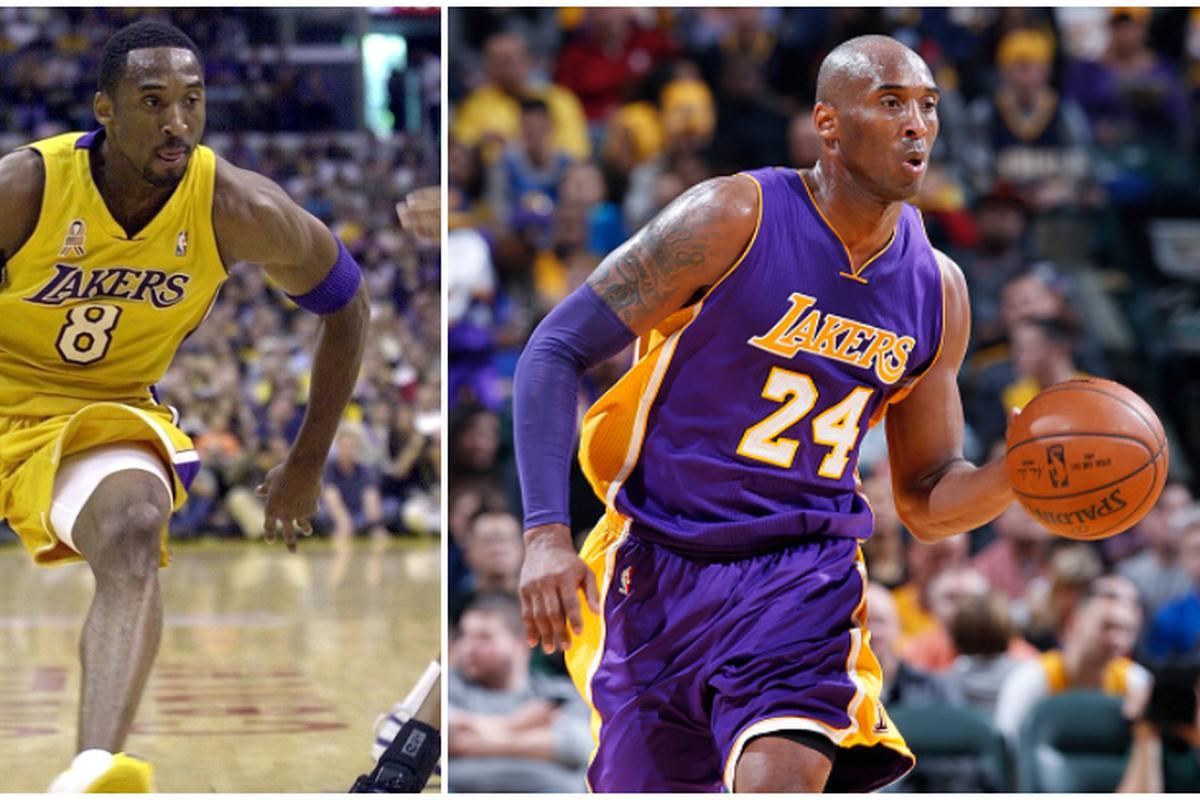 Gflyme Lakers Kobe 1996-2016 Retirada Camiseta Conmemorativa Kobe Algod/ón 8-24 Apariencia de Baloncesto Vestido de Manga Corta Basketball Vest Color : White, Size : XS