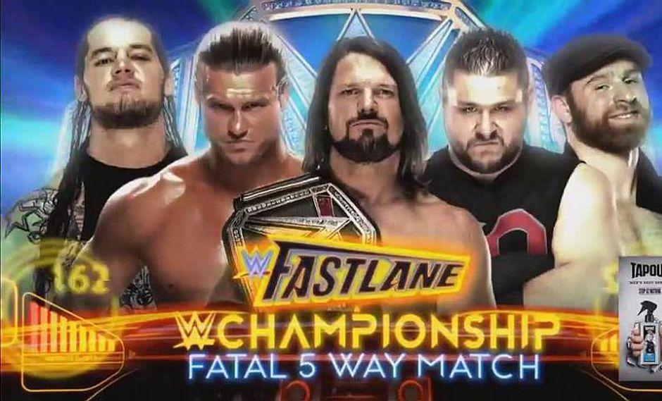 En Fastlane se llevará a cabo un Fatal 5 Way para definir al ganador del título de la WWE, (WWE)