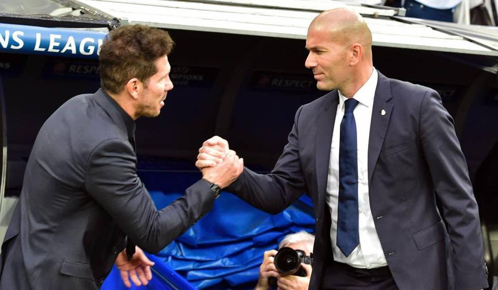 Las alineaciones de Zidane y Simeone para el derbi (Fotos: Agencias)
