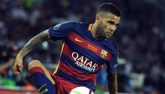 Dani Alves jugó ocho años en Barcelona. (Foto: AFP).