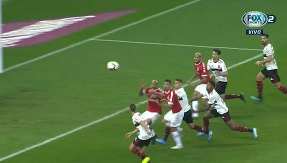 Rodrigo marcó el 1-0 e Internacional se pone a un gol de los penales en Copa Libertadores. (Fuente: Fox Sports)