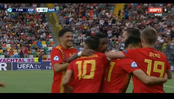 Golazo de Fabián Ruíz para el 1-0 del España-Alemania por final de Europeo Sub 21