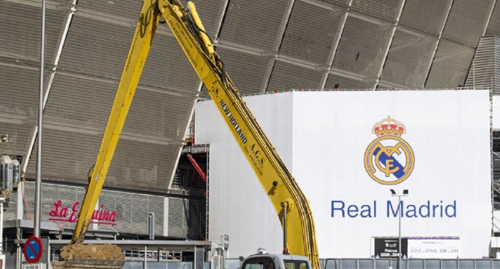 Así marchan las obras en el Bernabéu durante el coronavirus. (Foto: Diario As)
