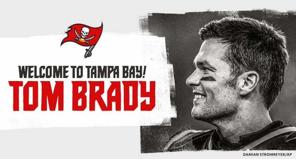 Tom Brady firma contrato y se convierte en jugador de Buccaneers. (Foto: @Buccaneers)