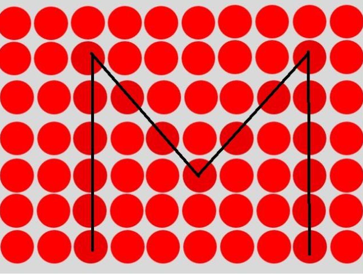 Solución: la letra escondida detrás de la imagen es la 'M'. ¿Lograste verla? (Foto: Facebook/Captura)