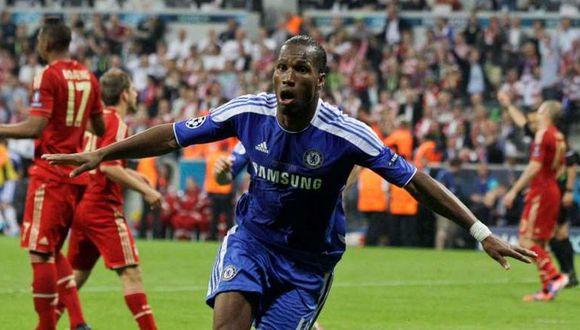 Didier Drogba anotó el 1-1 del Chelsea ante Bayern Munich por la final de Champions League 2012. (Getty)