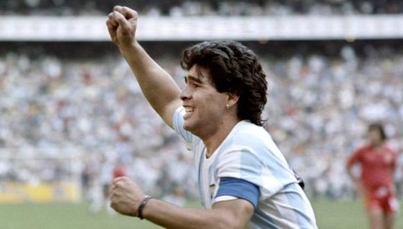 Diego Maradona anotó los dos goles de la victoria de Argentina sobre Inglaterra en México 86. (Foto: AFP)